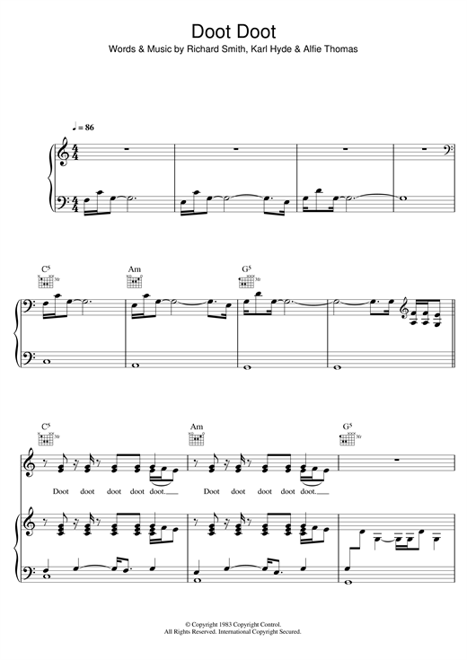 Doot Doot Sheet Music