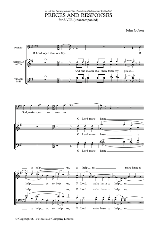 Preces & Responses Sheet Music