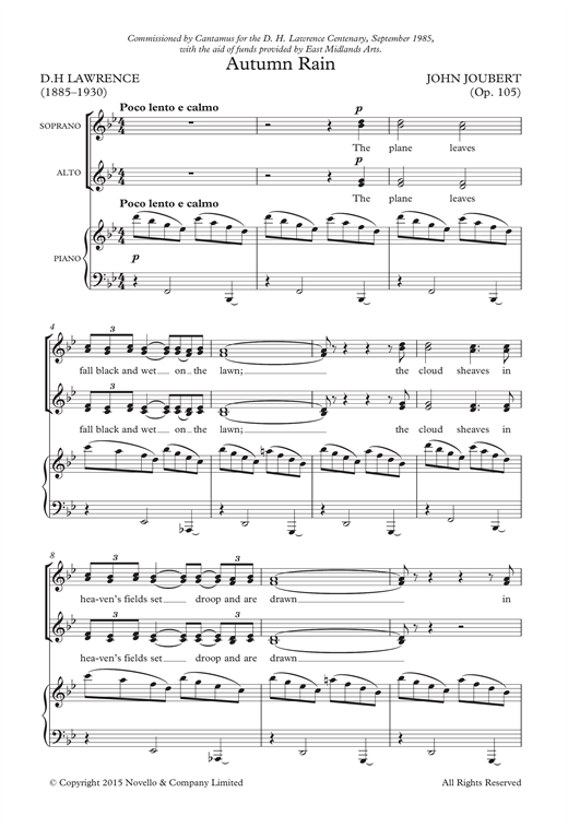 Autumn Rain Sheet Music