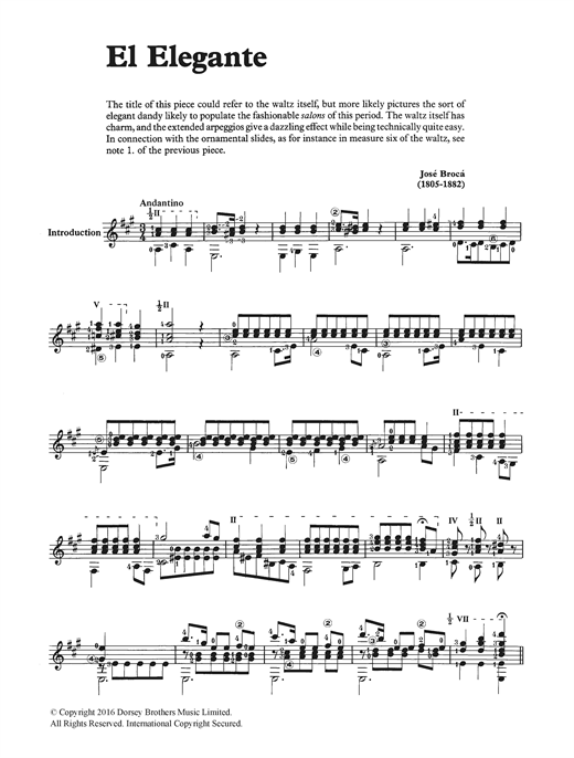El Elegante Sheet Music