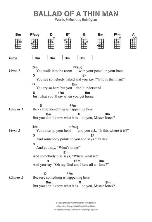 page one of Ballad Of A Thin ManASALTTEXT
