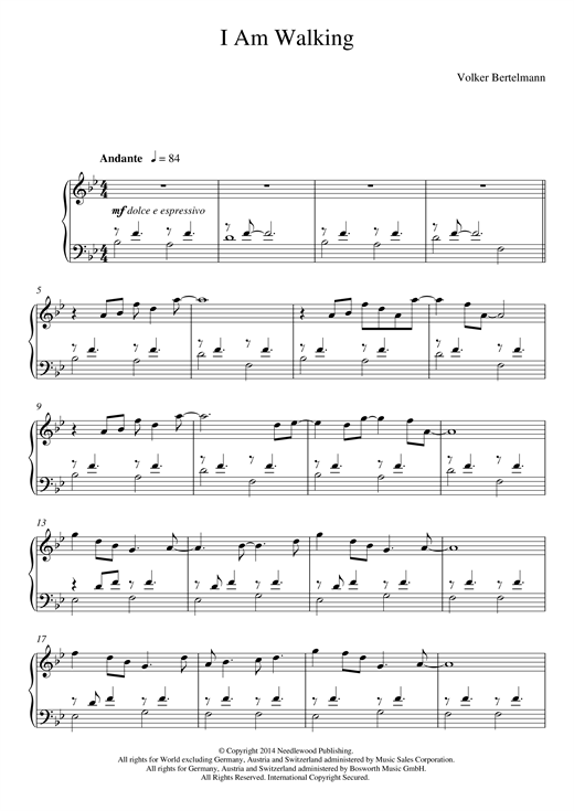 I Am Walking Sheet Music