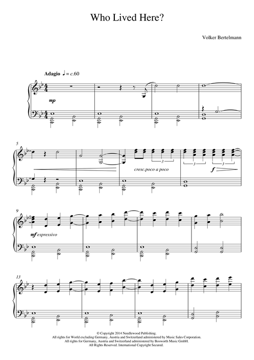 Who Lived Here? Sheet Music