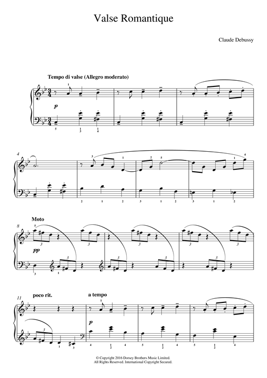 Valse Romantique Sheet Music