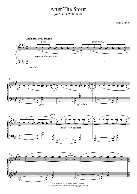 After The Storm Sheet Music