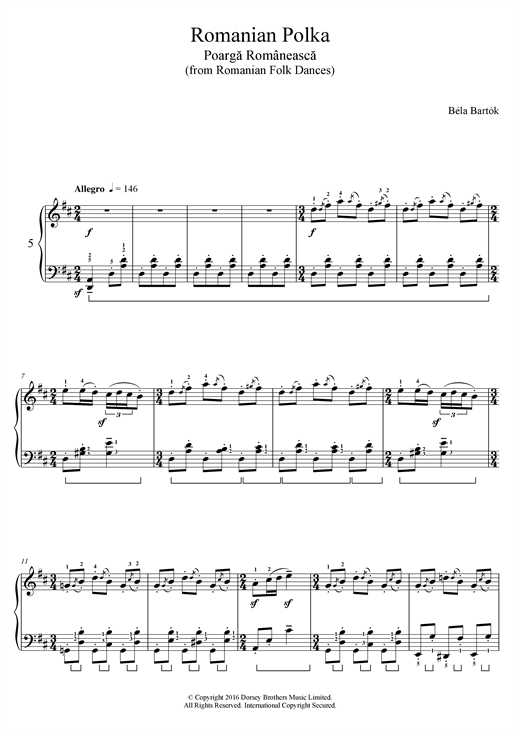 Romanian Polka (from Romanian Folk Dances) Sheet Music