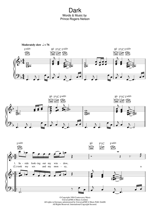 Dark Sheet Music