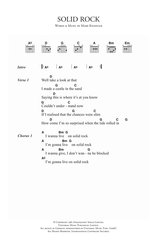 Solid Rock Sheet Music