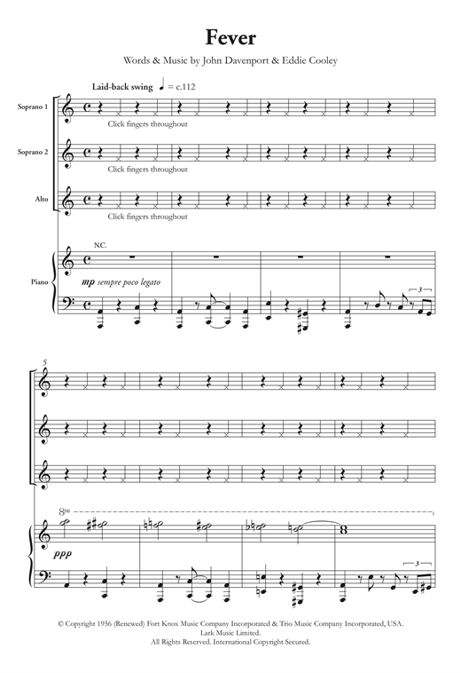 Fever Sheet Music