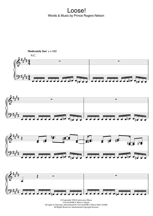 Loose! Sheet Music