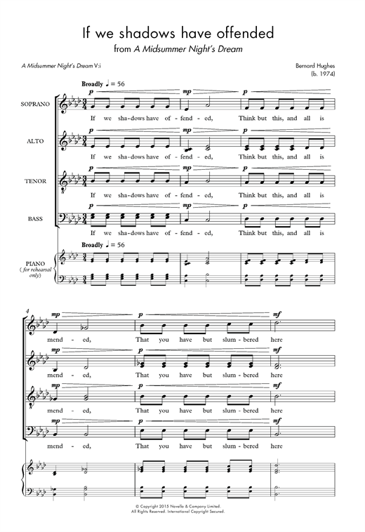 If We Shadows Have Offended Sheet Music