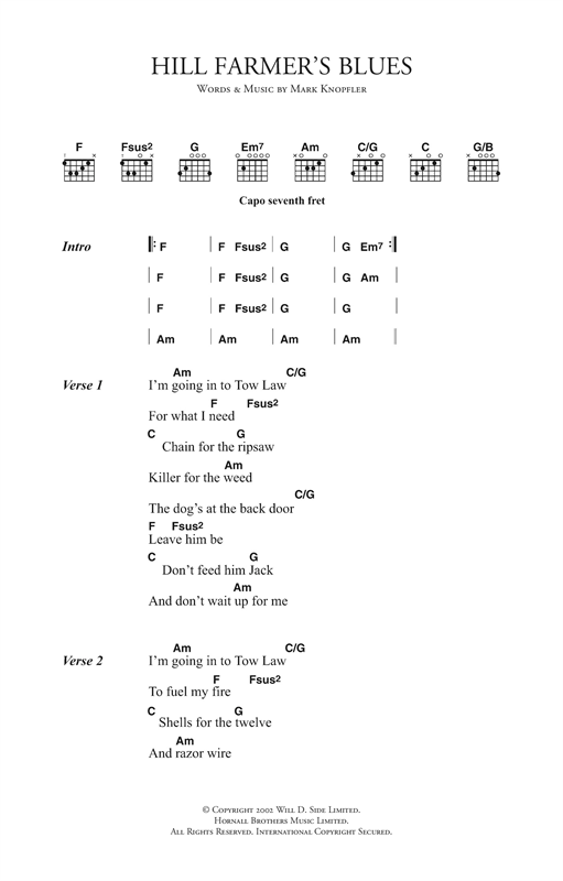Hill Farmer's Blues Sheet Music
