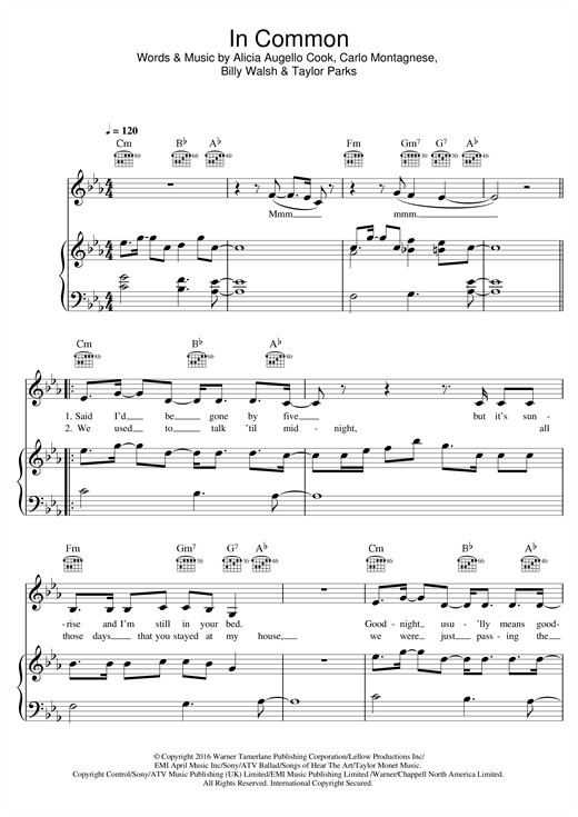 In Common Sheet Music
