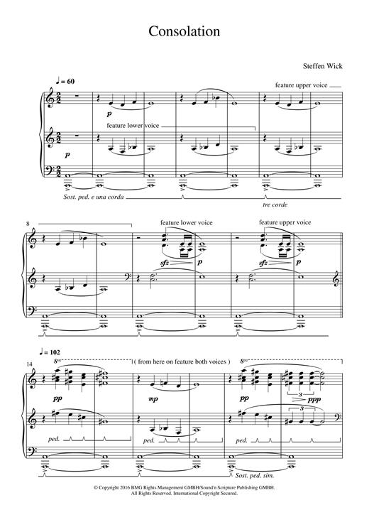Consolation Sheet Music