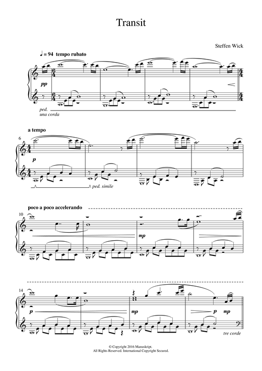 Transit Sheet Music
