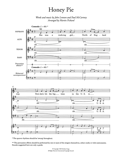 Honey Pie (arr. Martin Pickard) Sheet Music