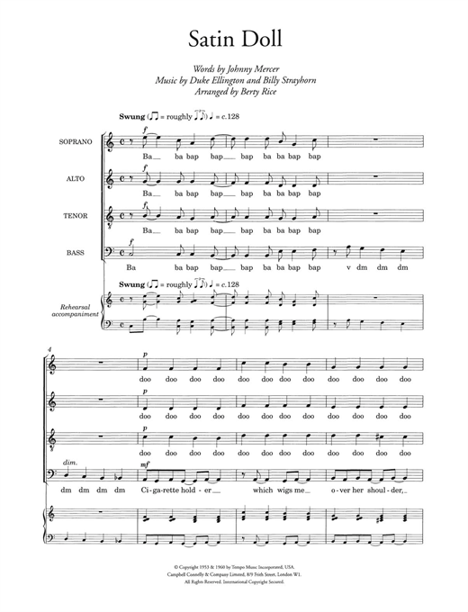 Satin Doll (arr. Berty Rice) Sheet Music