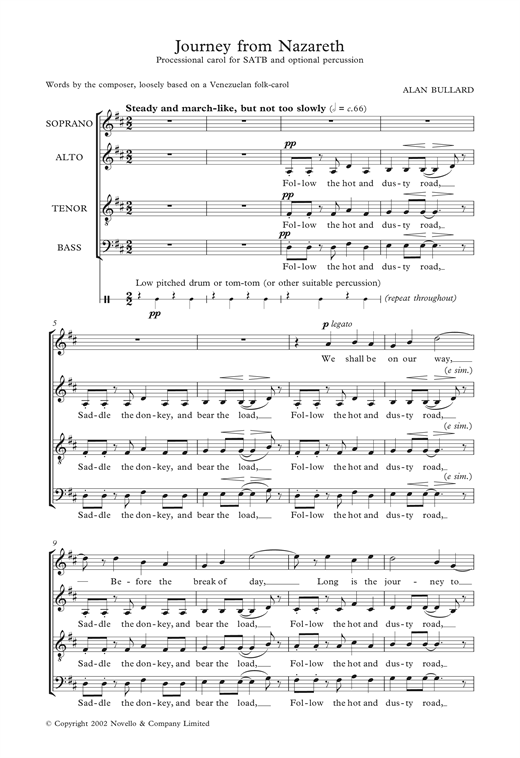 Journey From Nazareth Sheet Music