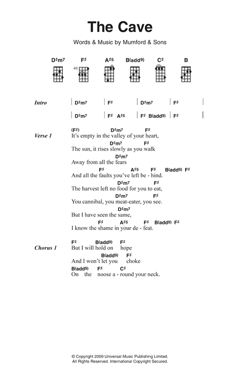 The Cave Sheet Music