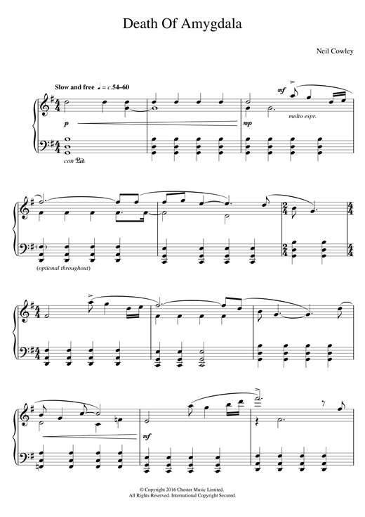 Death Of Amygdala Sheet Music