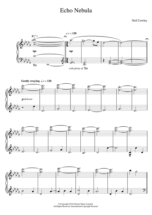 Echo Nebula Sheet Music