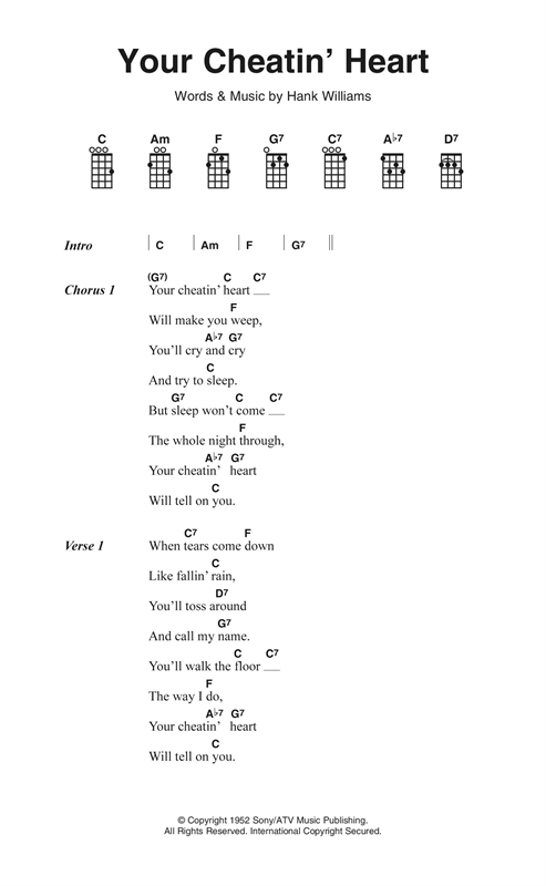 Hank Williams - Your Cheatin Heart (Chords)