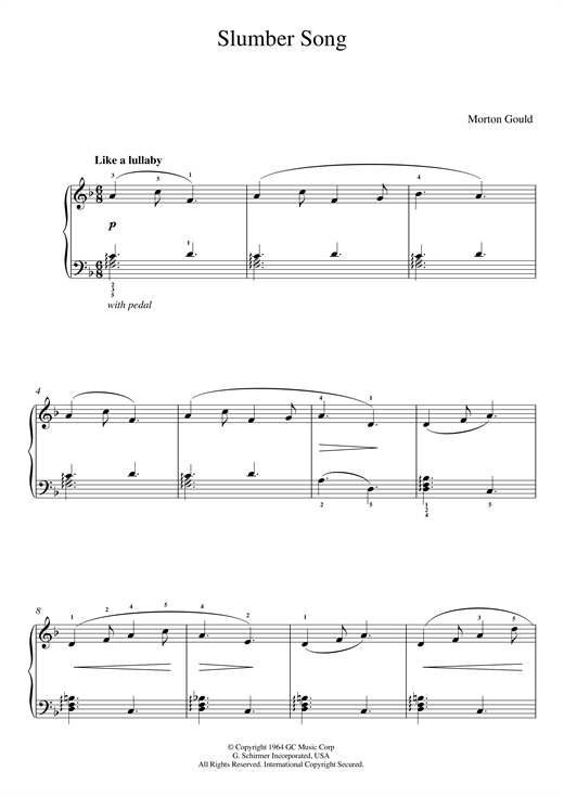 page one of Slumber Song (From 'At The Piano')ASALTTEXT