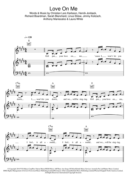 page one of Love On MeASALTTEXT