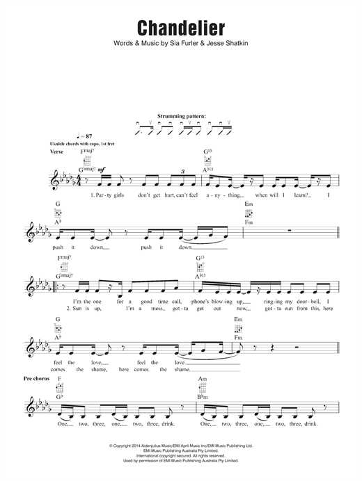 Chandelier Sheet Music
