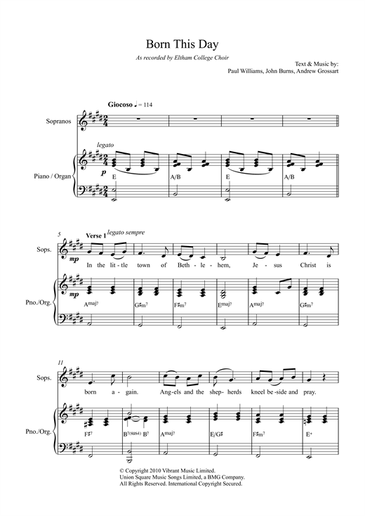 Born This Day Sheet Music