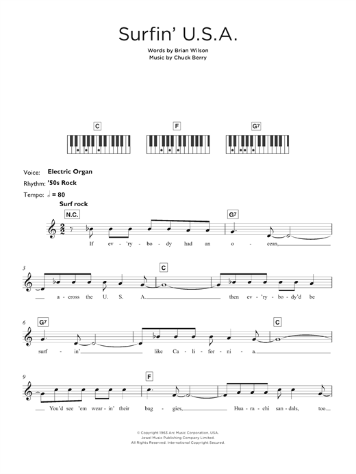 Surfin' U.S.A. Sheet Music