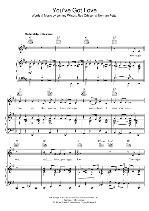 You've Got Love (Piano, Vocal & Guitar (Right-Hand Melody))