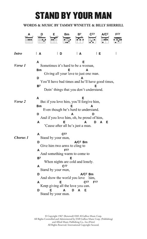 Stand By Your Man Sheet Music