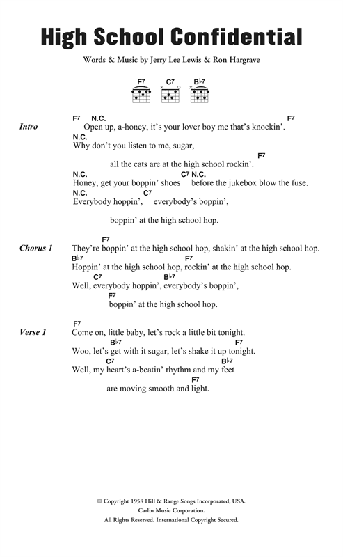 High School Confidential Sheet Music