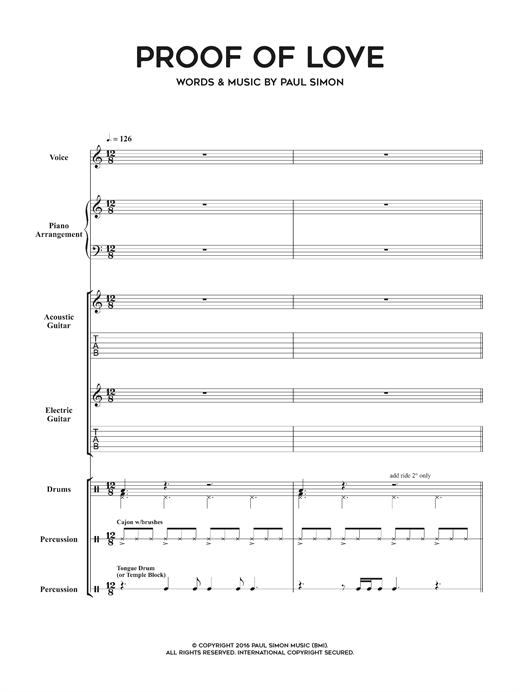 Proof Of Love Sheet Music