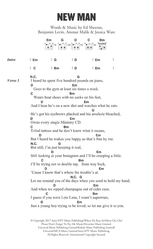 New Man (Lyrics & Chords)