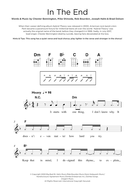 In The End Sheet Music