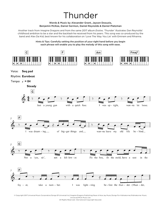 Thunder Sheet Music