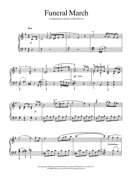 Funeral March Sheet Music