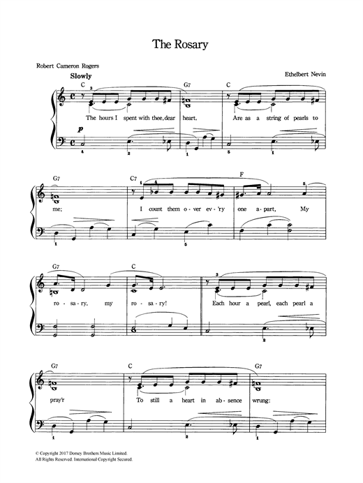 The Rosary Sheet Music