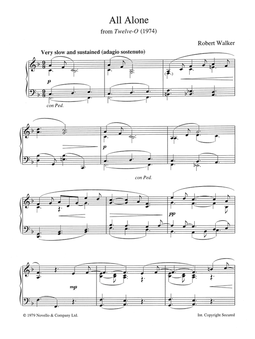 All Alone (from Twelve-O) Sheet Music