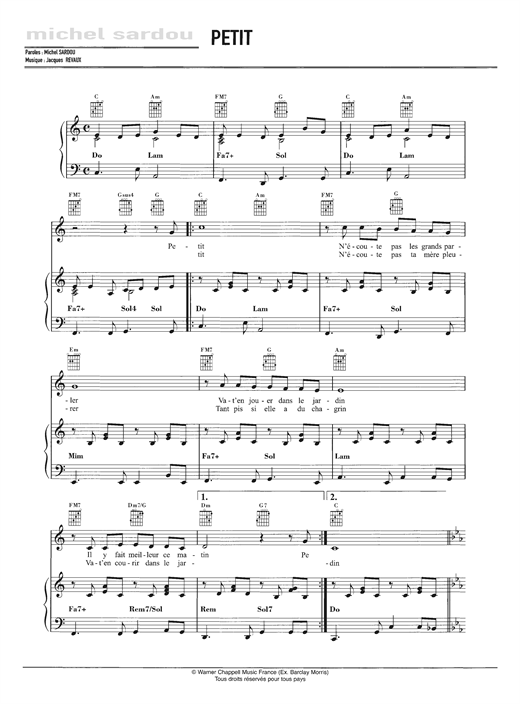 Petit Sheet Music