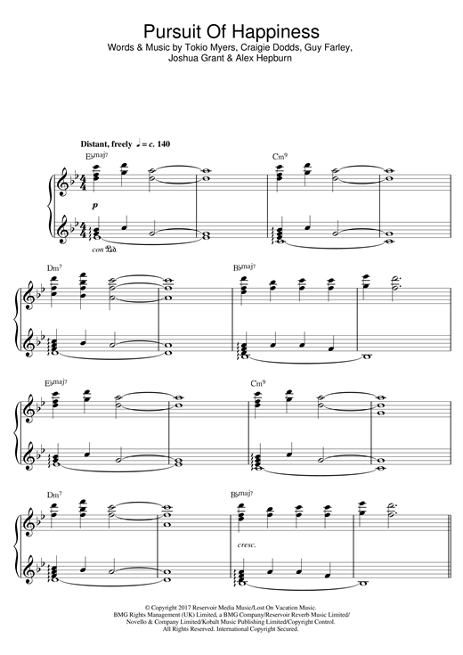 Pursuit Of Happiness Sheet Music