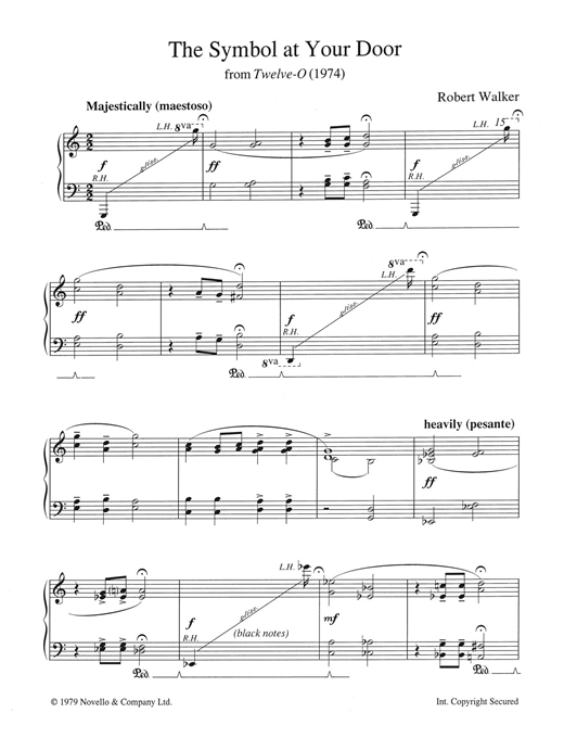 The Symbol At Your Door (from Twelve-O) Sheet Music