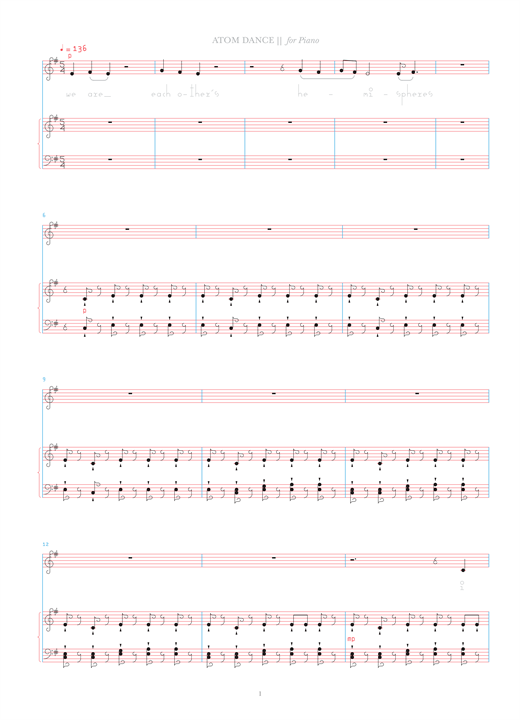Atom Dance Sheet Music