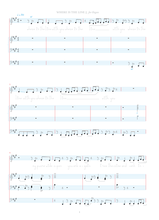 Where Is The Line? Sheet Music