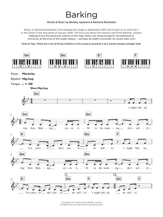 Barking Sheet Music