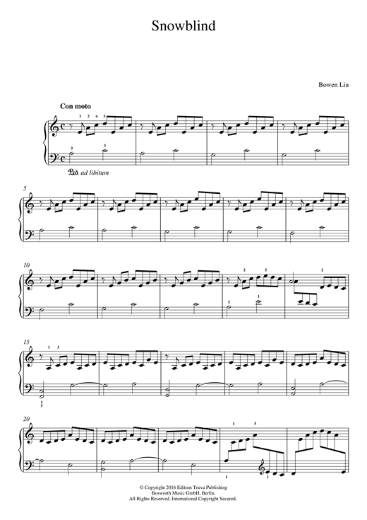 Snowblind Sheet Music