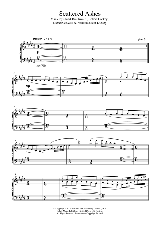 Scattered Ashes (Orchestral Variation) (Piano Solo)