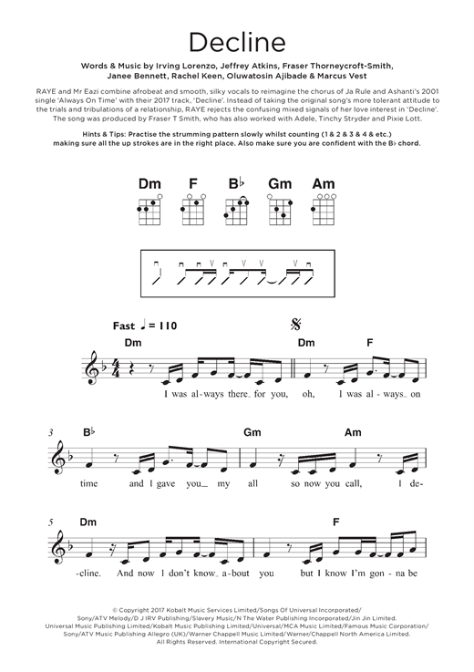 Decline Sheet Music